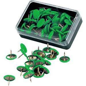 Puntine Plastificate 50pz Leone Verde