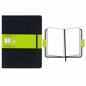 Quaderno 19x25cm 192pag Moleskine Black Bianco Soft Cover