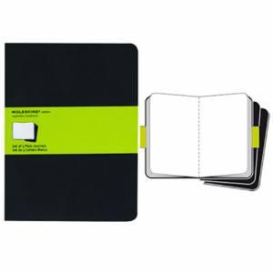 Quaderno 19x25cm 120pag Moleskine Black Bianco Set/3pz