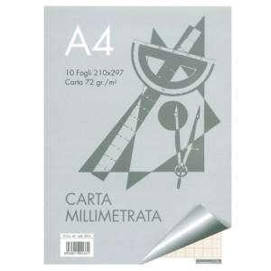 Album Carta Millimetrata A4 72gr 10fg