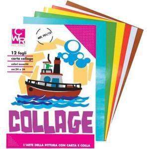 ALBUM COLLAGE 12fg 24x34cm CARTA LACCATA