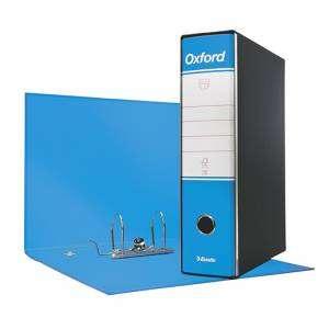 Registratore 2 Anelli 23x30x8cm c/scatola Esselte Oxford Azzurro