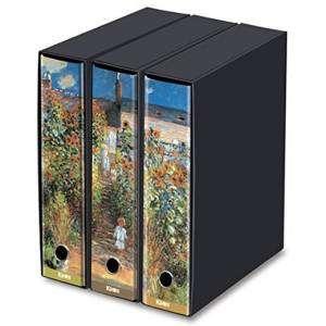 Registratore 2 Anelli 29x35x8cm c/scatola Set 3pz Kaos Monet/Il Giardino a Vetheuil