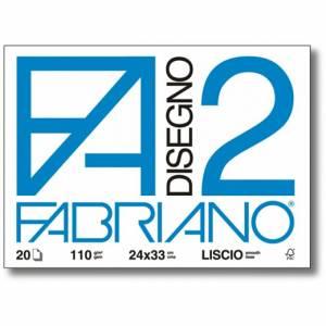 Album Disegno 24x33cm 110gr 20fg Fabriano F2 Liscio