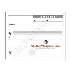 RICEVUTE GENERICHE 15x10cm 50fg CARTA CHIMICA 2 COPIE