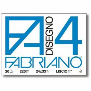 Album Disegno 24x33cm 220gr 20fg c/Angoli Fabriano F4 Liscio