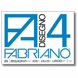 Album Disegno 24x33cm 220gr 20fg c/Angoli Fabriano F4 Riquadrato