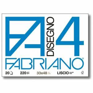 Album Disegno 33x48cm 220gr 20fg c/Angoli Fabriano F4 Liscio