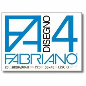 Album Disegno 33x48cm 220gr 20fg c/Angoli Fabriano F4 Riquadrato