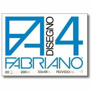 Album Disegno 33x48cm 220gr 20fg c/Angoli Fabriano F4 Ruvido