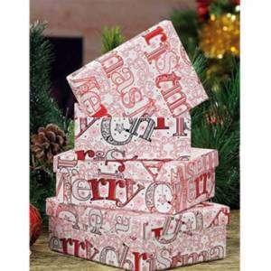 SCATOLA MERRY CHRISTMAS  13,5x17,5x6,5cm