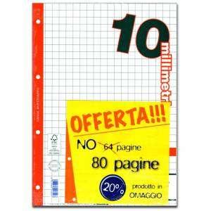 FOGLI A FORI CON RINFORZO LATERALE A4 40fg 100gr 10mm