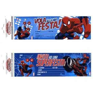 Inviti Festa 10pz Spiderman