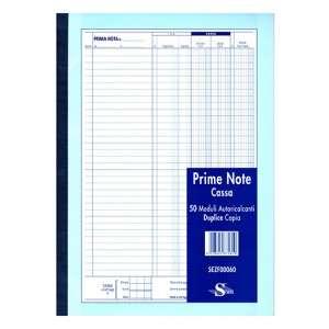 Blocco Prima Nota Cassa 21x30cm 2 Copie Carta Chimica