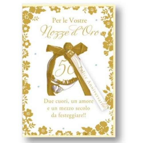 Auguri Matrimonio Busta : Biglietto con busta cm anniversario nozze d oro