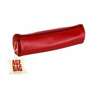Astuccio Clairefontaine Age Bag 21x6cm Pelle Rosso