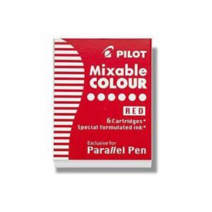 CARTUCCE PILOT PARALLEL PEN 6pz ROSSO