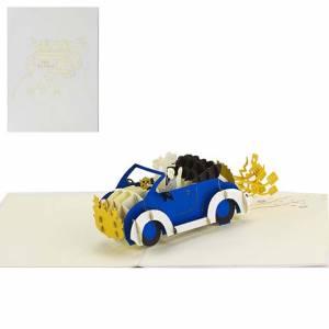 BIGLIETTO 3D - MATRIMONIO VIVA GLI SPOSI 15x20cm
