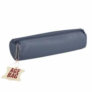 Astuccio Clairefontaine Age Bag 21x6cm Pelle Blu