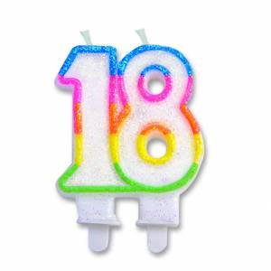 Candelina Numero 18 (12cm)