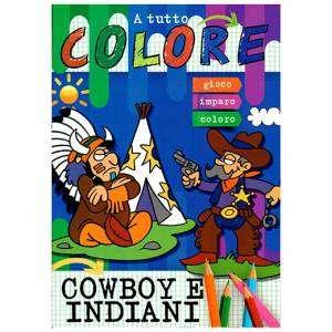 Libro da Colorare Cowboy e Indiani