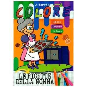 Libro da Colorare Le ricette della nonna