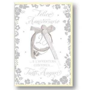 Biglietto Anniversario d'Argento 12x18cm