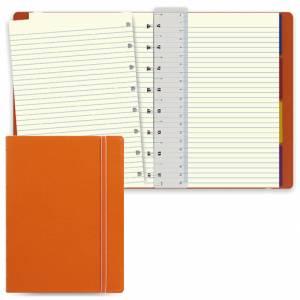 Notebook Filofax 15x21cm Arancione Righe