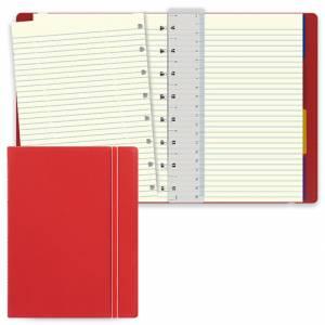 Notebook Filofax 15x21cm Rosso Righe
