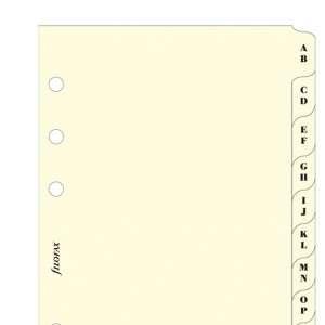 RICAMBIO FILOFAX  8x12,7cm POCKET-DIVISORI A/Z CREMA