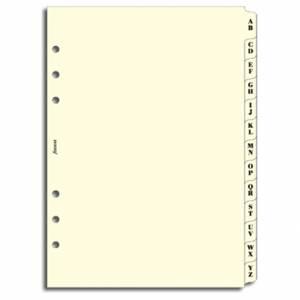 REFILL 15x21cm FILOFAX A5 Divisori A/Z