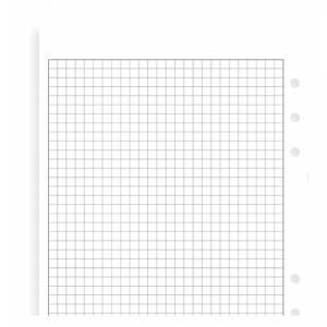 Ricambio 15x21cm Filofax A5 25fg Quadretti Bianco