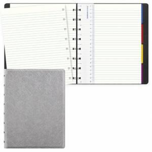 Notebook Filofax 15x21cm Saffiano Argento Righe