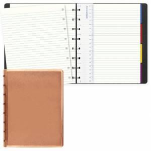 Notebook Filofax 15x21cm Saffiano Oro Rosa Righe