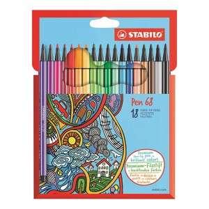 Pennarelli Stabilo Pen 68 18pz