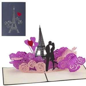 BIGLIETTO AUGURI 3D Love in Paris 13x18cm