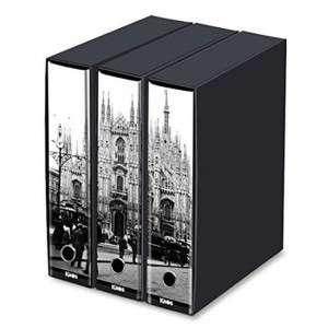 Registratore 2 Anelli 29x35x8cm c/scatola Set 3pz Kaos Milano/Duomo