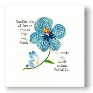 Biglietto Filigrana Fiore Farfalla 15x15cm
