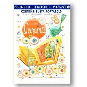 Biglietto Cresima porta Soldi 12x18cm