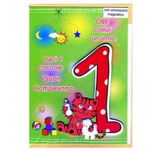 BIGLIETTO AUGURI 12x18cm Compleanno 1 anno