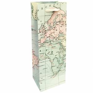 Sacchetto Bottiglia 12x36Hx8,5cm Legami Map