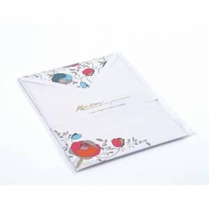 Carta Lettera/Buste 5pz Kartos Flowers