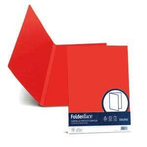 Cartelline Semplici 25x34cm Cartoncino 200gr Favini Simplex FolderLuce 50pz Rosso
