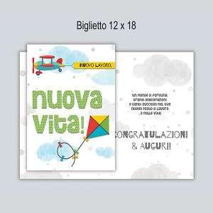 BIGLIETTO CON BUSTA 12x18cm BATTESIMO BIMBA