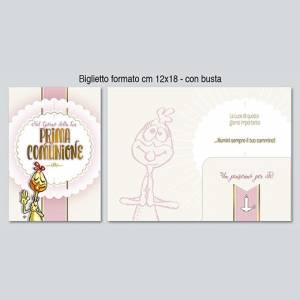 BIGLIETTO CON BUSTA 12x18cm COMUNIONE PORTASOLDI Lupo Alberto