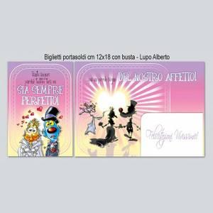 Biglietto Matrimonio porta Soldi 12x18cm