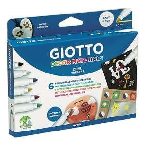 Pennarelli MultiSuperficie 6pz Giotto Decor Materials