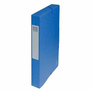 Cartella c/Elastico 24x32x4cm Cartoncino 400gr Exacompta Blu