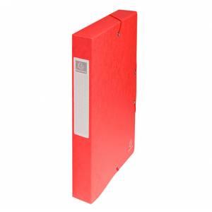 Cartella c/Elastico 24x32x4cm Cartoncino 400gr Exacompta Rosso